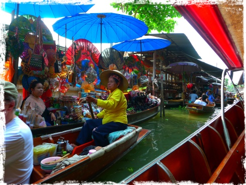 Many of the items in the floating market are a little pricey so your haggling skills are a must!